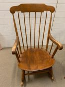 A Nichols and Stone Boston rocking chair markers mark under