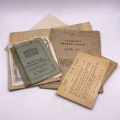 A small selection of WWII demob ephemera