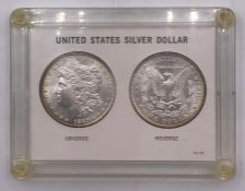 A Cased United States Silver Dollar 1885.