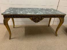 A marble effect coffee table (H45cm W91cm D43cm)