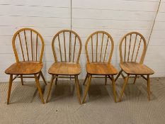 Four spindle back Windsor chairs