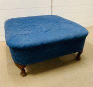 A Queen Ann style foot stool (H35cm Sq80cm)