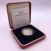 A 1995 £2 Silver Proof Piedfort WW2 coin