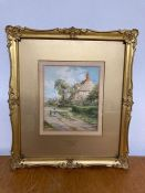 """T.H. Annandale (XIX-XX), """"The Garden Cottage"""", signed lower right, watercolour on paper, framed"""