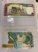 An Album of worldwide banknotes.