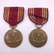 Two US Army WWII Good Conduct Medals