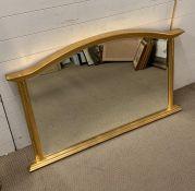 A gilt framed mantle mirror (122cm x 78cm)