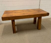 A Rustic Pine Coffee Table or Bench (W 91 cm x D 43 cm x H 43 cm)