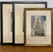 """After André Collot (1897-1976) French, a set of three coloured prints from """"Mémoires de Casanova"""","""