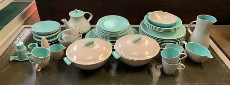 A Large Selection of a Poole Pottery dinner service