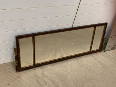 A Triptych Georgian Mirror, original glass is also included in the sale.125cm L x 44cm H