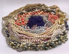 A Large volume of Costume Jewellery necklaces.