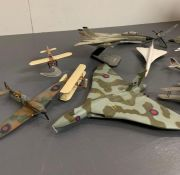 A small collection of model aircraft
