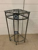 A Metal corner plant stand Height 67 cm