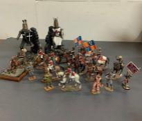 A collection of Del Prado military figures