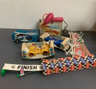 A small selection of vintage Scalextric items
