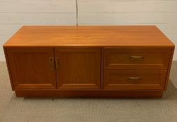 A G Plan Fresco sideboard with two doors and two drawers.