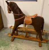 Plush Mamma's and Papa's Rocking Horse (H103cm W103cm H72cm to seat)
