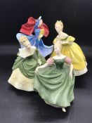 A selection of Four Royal Doulton figures to include, Sophie, Michele, Soiree and The Last Waltz