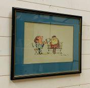A Hand Drawn Cartoon by Tony Hart (British 1925-2009)