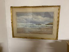 """Frederick R. Fitzgerald (1869-1944) British, """"Godrevy Light, Cornwall"""", signed lower left and titled"""