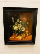Still Life of Flowers on a Ledge by Eric Paetz (64.8cm x 72.4cm)