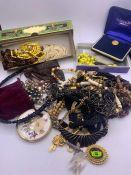 A Volume of Vintage Costume jewellery
