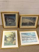A group of four prints after Peter Kettle, depicting Covent Garden places, signed and numbered 24 of