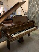 A mahogany Vandemar piano, Reg No 473234 stamped to front