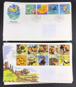 A selection of approximately 155 First Day Covers