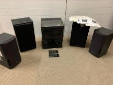 Technics Hi-fi stereo separates including turntable, tape deck, compact disc, graphic equalizer