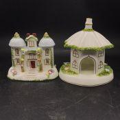 A Selection of six Coalport Cottages.
