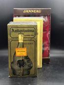 A Bottle of Spirit Antiquíssima Reserva Velha (matt bottle) two bottles of Grand Armagnac Janneau