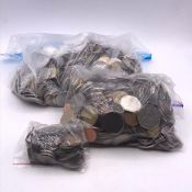 A large quantity of foreign coins (About 5 kilos)