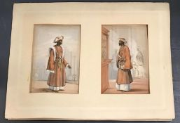 A Emily Eden lithograph (India) hand coloured, mounted on card. Published 1844
