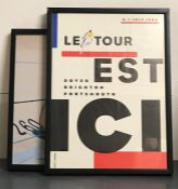"""A poster of Le Tour de France, 1994, """"Le Tour Est Ici"""" (Dover, Brighton, Portsmouth), together"""