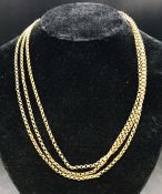 A 9ct gold chain (Approximate weight 18.9g)