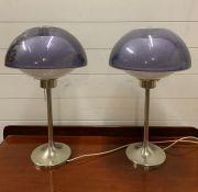 A Pair of Mid Century Mushroom Lamps