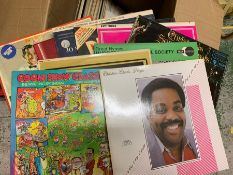 A collection of Jazz classical and children's music records