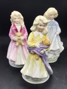 A selection of three Royal Doulton figures to include, Hope, Charity and Faith