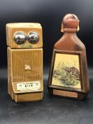 Two promotional bottles of Beam Kentuck straight bourbon whiskey