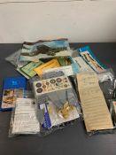 A selection of eleven header model kits to include, D.H Mosquito MKVI, Blackburn Skua, Macchi M.