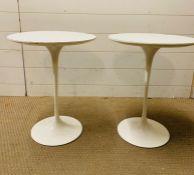 A Pair of 1960's Arkana Lamp Tables (52 cm H x 40 cm diameter)