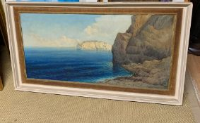 A late 19th or early 20th century Italian school, Seascape, signed: 'S.Giordani' lower right, oil on