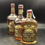 Two Bottles and One Half Bottle of Chivas Regal