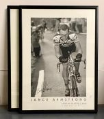 A pair of posters celebrating Lance Armstrong's wining the Tour de France in 2000 (69x50 cm