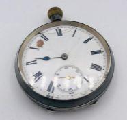 A Silver pocket watch AF