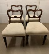 Four William IV dining chairs