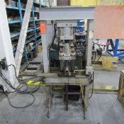 Tennals(?) 3,000 PSI Model HDZ-ME6-BR H-Frame Hydraulic Press, S/N: 30351; with Auxilliary Hydraulic