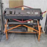 National 48 in. x 16 ga. Model 4816 Bench Top Box & Pan Finger Brake, S/N: 1123210790; with Stand